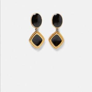Zara Gold Earrings with stones